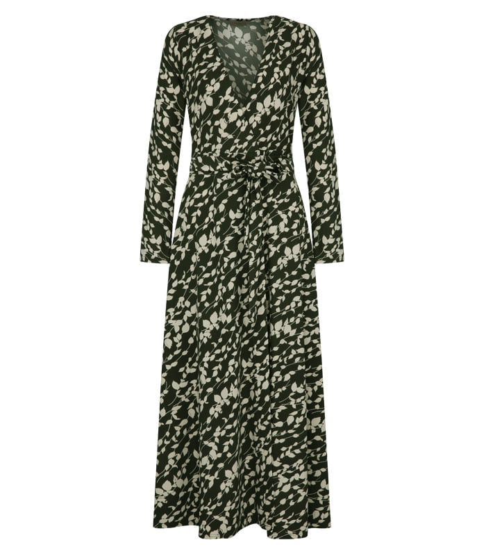 [only Astier] calla wrap dress