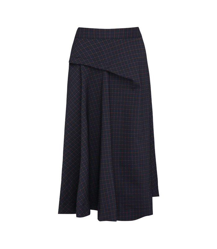 [only Astier] layton check skirt
